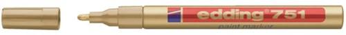 Viltstift edding 751 lakmarker rond goud 1-2mm