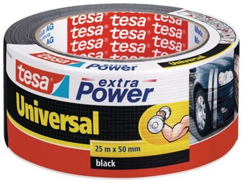 Plakband Tesa 50mmx25m extra Power zwart