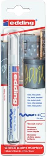 Viltstift edding 750 lakmarker wit 2-4mm blister