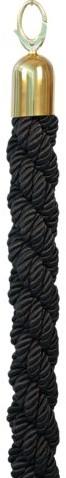 Afzetkoord Securit 150cm zwart met goudkleurige knop