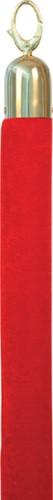Afzetkoord Securit 150cm rood met goudkleurige knop