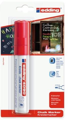 Viltstift edding 4090 window schuin rood 4-15mm op blister
