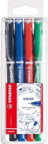 Fineliner STABILO Sensor 189 etui à 4 kleuren
