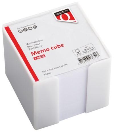 Memokubus Quantore 10x10x10cm wit met 900vel