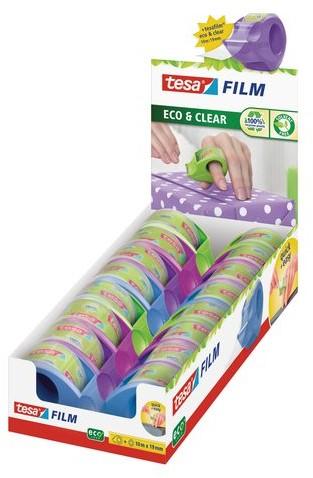 Plakbandhouder Tesa Eco mini roller met tape