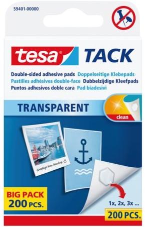 Dubbelzijdige kleefpads Tesa tack transparant 200stuks