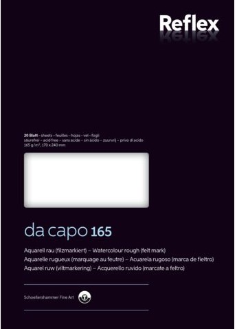 Aquarelblok Dacapo VF5004230 17x24cm 165gr 20v