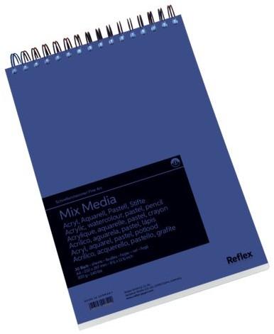 Aquarelblok Schoellershammer Mixmedia A4 spiraal 30vel 300gr