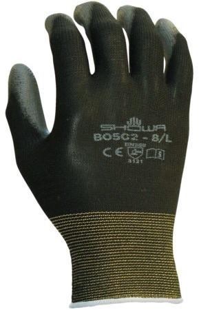 Handschoen Showa B0502 grip nylon zwart 7/small