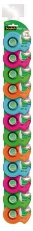 Plakband Scotch 810 19mmx19m onzichtbaar + afroller in Cool Colors
