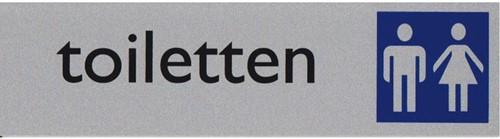Infobord pictogram toiletten dames/heren 165x44mm