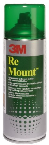 Lijm 3M remount spray spuitbus 400ml
