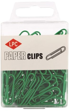Paperclip LPC 28mm 100stuks groen