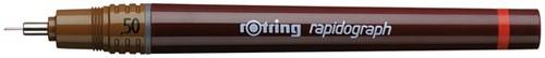 Tekenpen rOtring 155050 rapidograph 0.50mm bruin