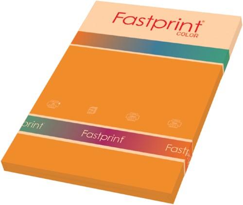 Kopieerpapier Fastprint A4 80gr oranje 100vel