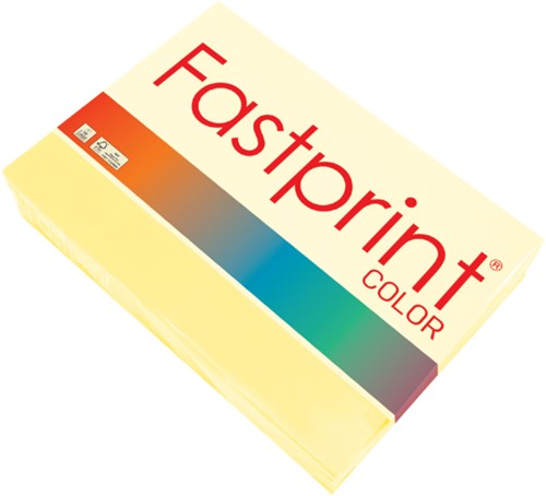 Kopieerpapier Fastprint A3 120gr kanariegeel 250vel