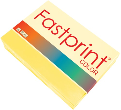 Kopieerpapier Fastprint A4 120gr zwavelgeel 250vel