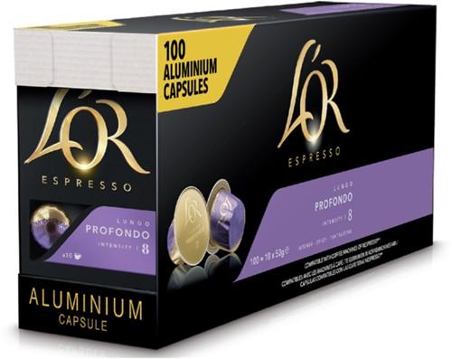 Koffiecups L'Or Espresso Profondo 100 stuks