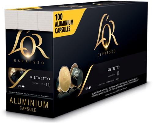 Koffiecups L'Or Espresso Ristretto 100 stuks
