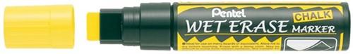 Viltstift Pentel SMW56 krijtmarker geel 8-16mm
