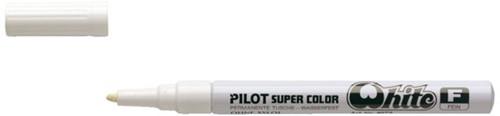 Viltstift PILOT Super SC-W-F lakmarker rond wit 1mm