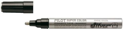 Viltstift PILOT Super SC-S-M lakmarker rond zilver 2mm