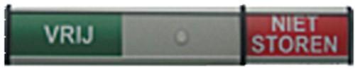 Infobord vrij/niet storen 125x30mm