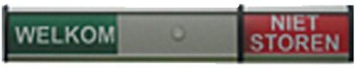 Infobord welkom/niet storen 125x30mm
