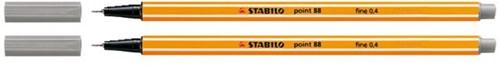 Fineliner STABILO point 88/96 donker grijs