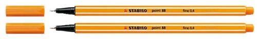 Fineliner STABILO point 88/89 donker oker
