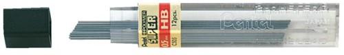 Potloodstift Pentel 0.5mm zwart per koker HB