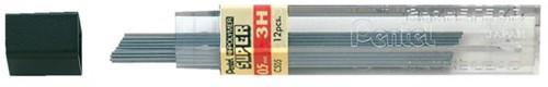 Potloodstift Pentel 0.5mm zwart per koker 3H