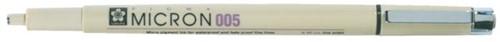 Fineliner Sakura pigma micron zwart 0.2mm