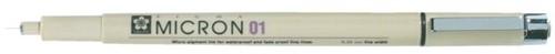 Fineliner Sakura pigma micron zwart 0.25mm
