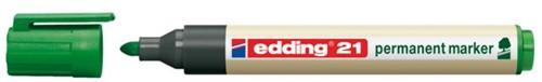 Viltstift edding 21 Eco rond groen 1.5-3mm