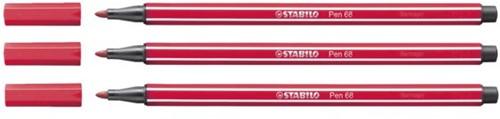Viltstift STABILO Pen 68/50 donkerrood