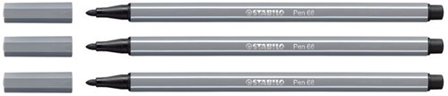 Viltstift STABILO Pen 68/96 donkergrijs