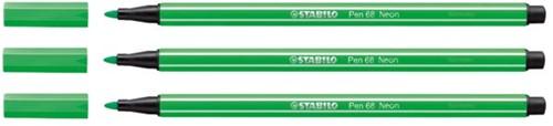 Viltstift STABILO Pen 68/033 neon groen