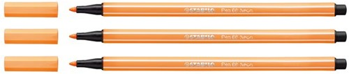 Viltstift STABILO Pen 68/054 neon oranje