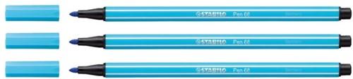 Viltstift STABILO Pen 68/57 azuur blauw