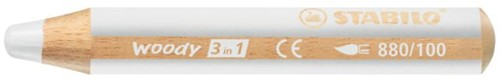Kleurpotloden STABILO Woody 880/100 wit