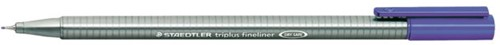 Fineliner Staedtler Triplus 334 blauw 0.3mm