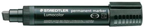 Viltstift Staedtler Lumocolor 388 blokpunt zwart 2-12mm