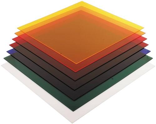 Acrylplaat 3mm 50x50cm transparant geel