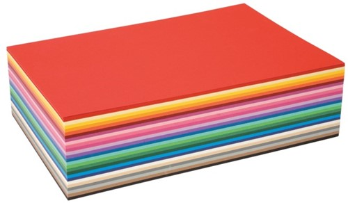 Gekleurd tekenpapier 130gr / 25x35cm. / ass. 400vel
