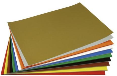 Gekleurd tekenpapier 130gr. / 50x70cm. / per vel / Metallic Goud - 065