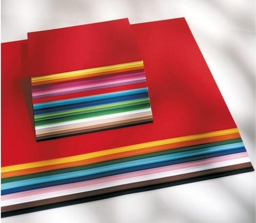 Gekleurd tekenpapier 130gr. / 50x70cm. /  ass. 500 vel
