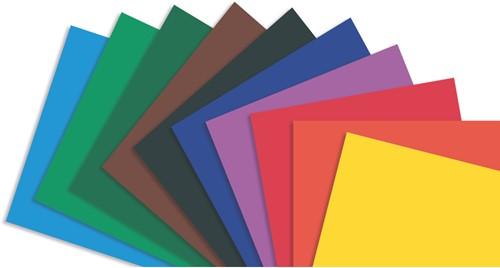 Gekleurd karton 220gr. / 50x70cm / middenblauw vel