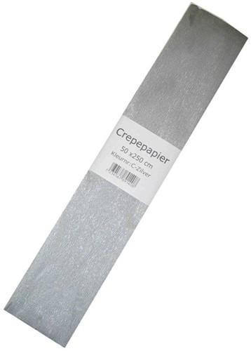 crepepapier zilver