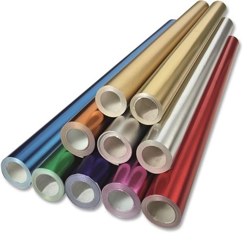Aluminiumpapier rol 10 mtr x 50 cm 604 blauw